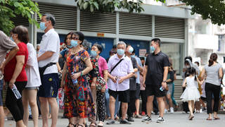 People have been queuing up to get tested due to the outbreak.