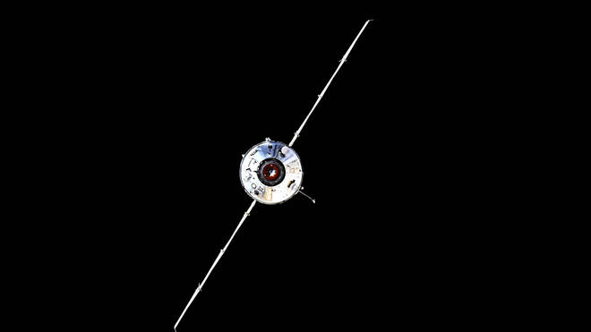 The Nauka module prior to docking with the ISS on Thursday