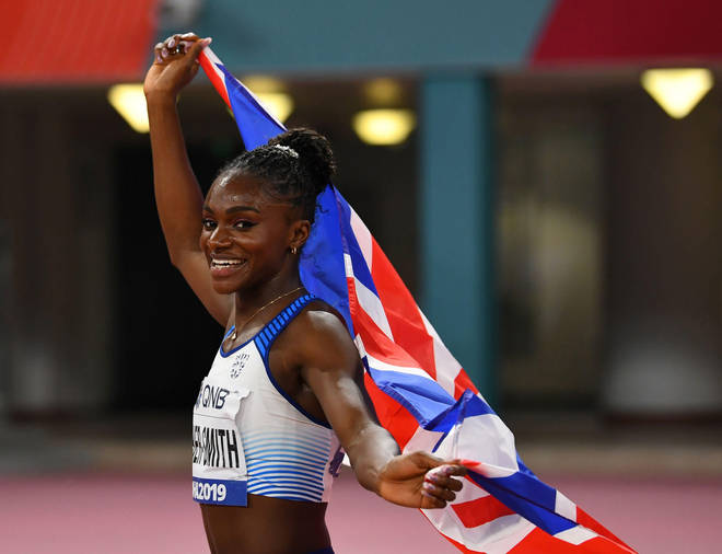 """Mr Malcolm said Dina Asher Smith had a """"good balance"""" between performance and being """"very good around the team"""""""