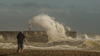 Storm Evert is continuing to batter the south east of England, with some coastal areas particularly vulnerable