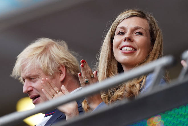 Carrie and Boris Johnson at the Euros