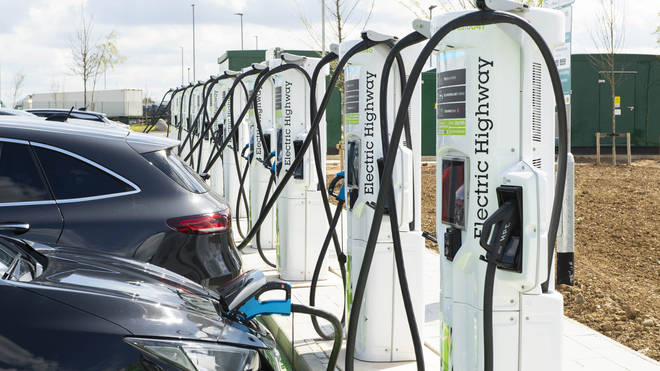 EV charging points at Rugby services