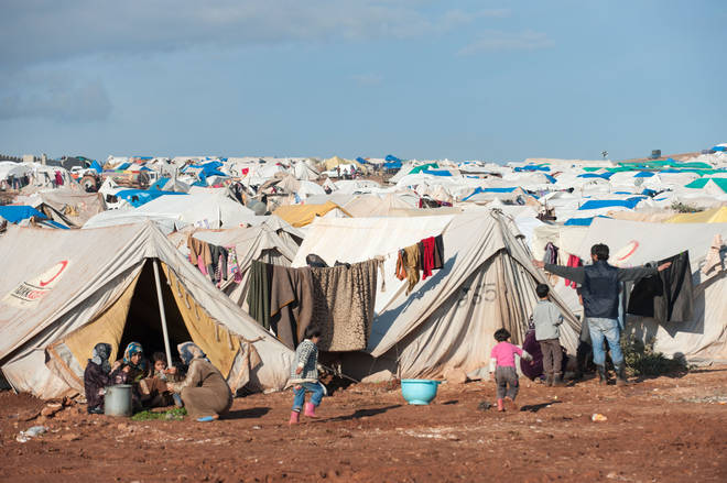 Atma Refugee Camp on the Turkish border, Syria