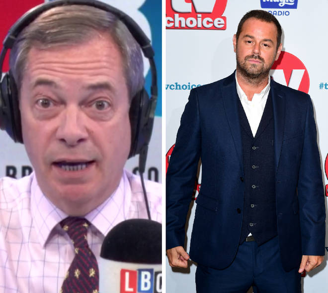 "Danny Dyer described Nigel Farage as ""another p**** in a suit"""