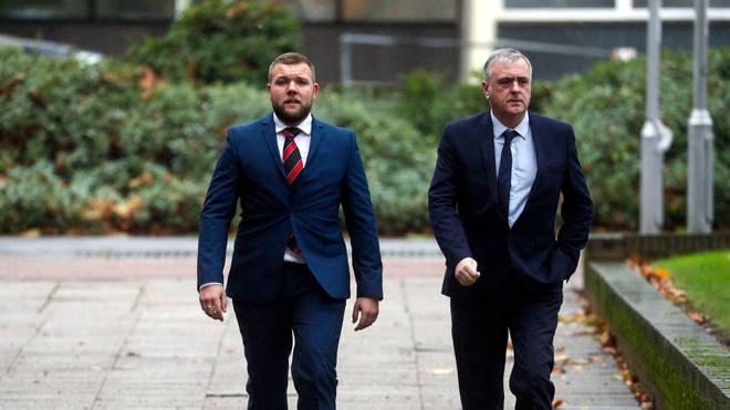 Jones, left, was found guilty of assault