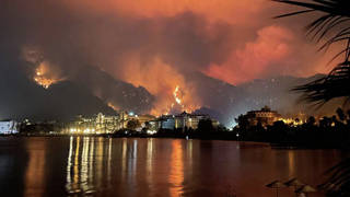 Resorts have been engulfed with flames