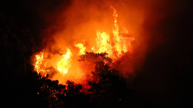 Fires have raged in resorts like Marmaris