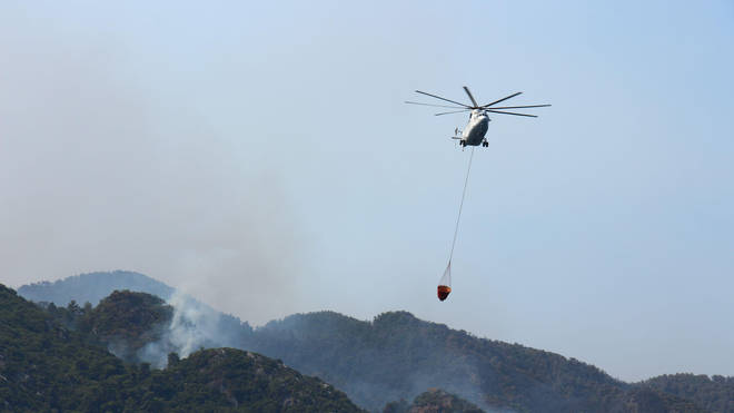 A number of nations are involved in the firefighting effort against the Turkish blazes