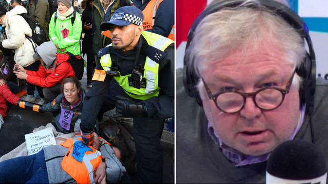 Nick Ferrari had a very entertaining row with a Bridge protester