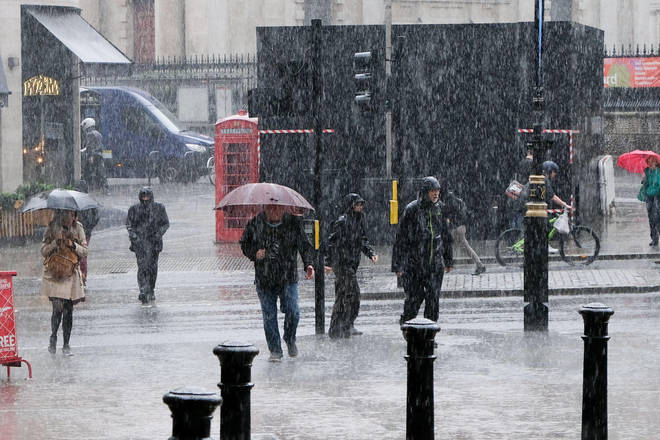 Parts of London experienced downpours during Storm Evert last week.