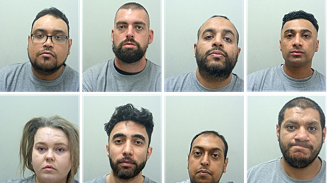 The seven men will be sentenced on Thursday, August 5, with Judy Chapman expected to be sentenced in October