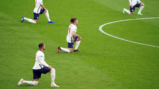 Players took the knee throughout Euro 2020 to promote a message of anti-racism