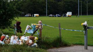 Tributes were left to Logan near the scene