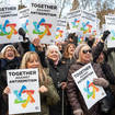 Antisemitism demonstrations have been held amid rising levels of abuse