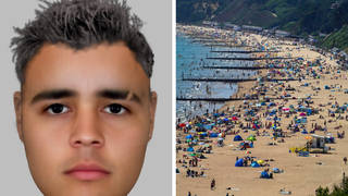Police have issued an e-fit in their hunt for a suspect who raped a girl in the sea off Bournemouth beach