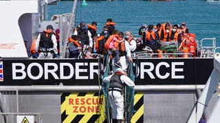 A new record number of people in small boats crossed the English Channel on Wednesday