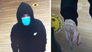 Police want to trace this man after the theft of cash and Pokemon cards