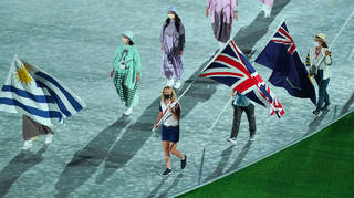 Boris Johnson heaped praise on Team GB, represented by Laura Kenny at the closing ceremony