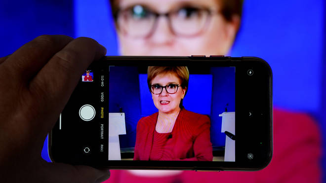First Minister Nicola Sturgeon spoke to MSPs during a virtual sitting of the Scottish Parliament.
