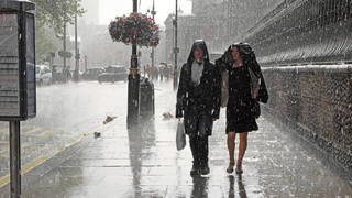 Heavy showers could be on the way for Monday afternoon.