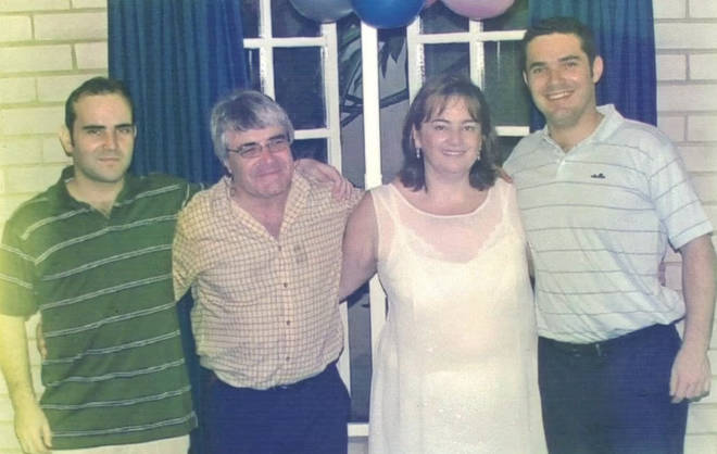 Francis (right) lost loss of his brother Shaul, 40, father, Basil, 73, and mother, Charmagne, 65