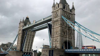 Tower Bridge became stuck open on Monday afternoon