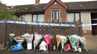 Two people have been arrested over the death of the two-year-old girl