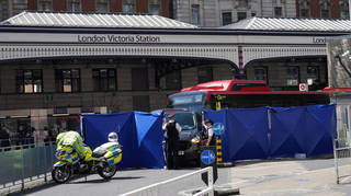 One woman has been killed following a collision involving two buses at London Victoria Station