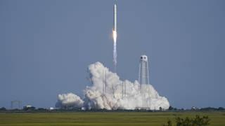 Northrop Grumman's Antares rocket lifts off