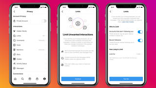 Instagram's new Limits tool, which allows people to filter out comments and DM requests from those who don't follow or have only recently started following them