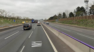 The crash took place between junctions 14 and 15 on the M1