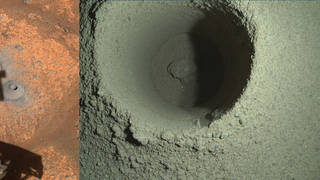 The drill hole on Mars
