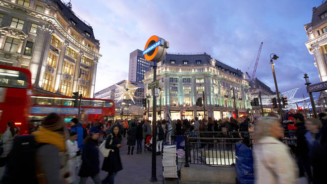 There has been a stabbing at Oxford Circus.