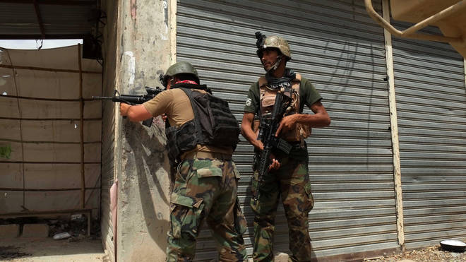 Afghan security forces exchanging fire with Taliban militants in Kandahar