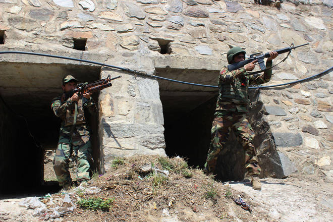 The Afghan army is combatting the Taliban as the militants make major gains