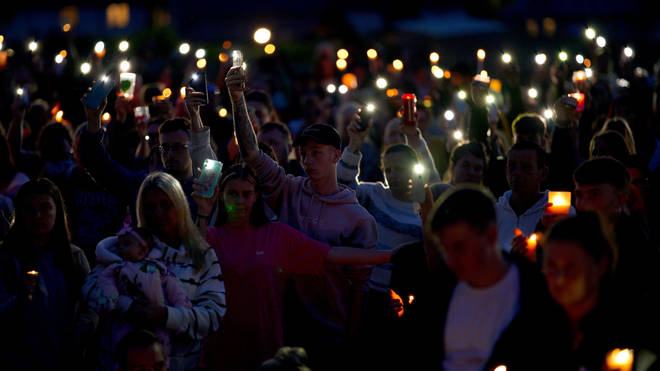 A vigil was held on Friday for the victims