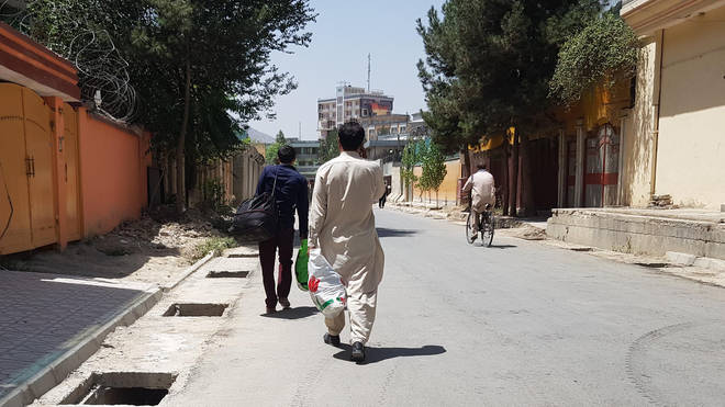 The Taliban began entering the outskirts of Afghanistan's capital Kabul on Sunday