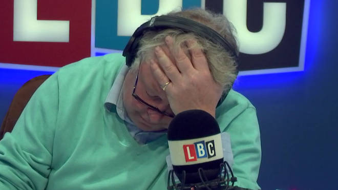Nick Ferrari was left with his head in his hands