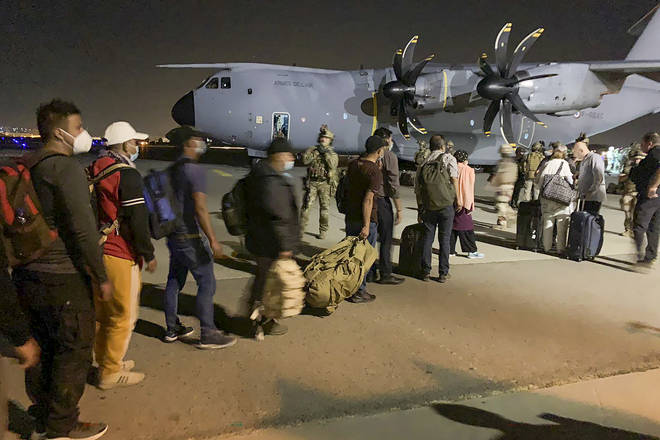 Foreign nationals rushed to flee Afghanistan
