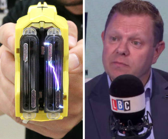 John Apter is calling for police officers to be routinely armed with the Taser