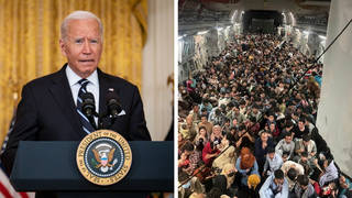 Joe Biden said he could not see how the chaos at Kabul airport could have been avoided