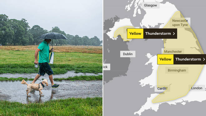 The weather warnings cover most of England