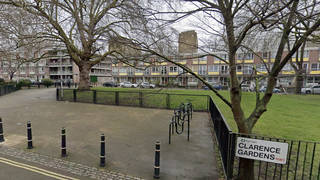 The shooting happened at Clarence Gardens in North London