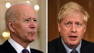 Boris Johnson is set to plea with Biden over an extension to US withdrawal deadlines.