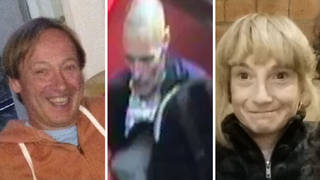 Police have issued CCTV footage of Lee Peacock (middle) who they want to speak to in connection with the murders of Clinton Ashmore and Sharon Pickles at two separate addresses in Westminster.