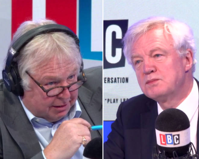 Nick Ferrari grilled David Davis