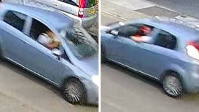 The police released images of the car connected to the attack.