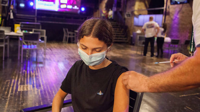 Pop-up clinics, including this one at Heaven nightclub in London, are being used to make it easier for 16 and 17 year olds to get jabbed