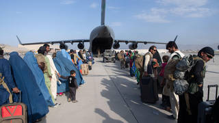 UK nationals have been told not to travel to Kabul airport, where evacuations are ongoing