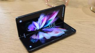 The Samsung Galaxy Z Fold3 smartphone